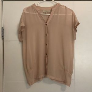 Sheer cream / peach Olive and Oak blouse